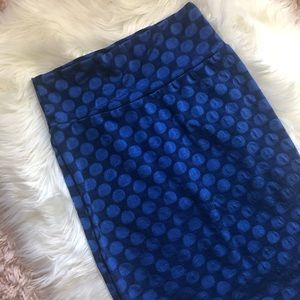 LuLaRoe Cassie Blue Pencil Skirt